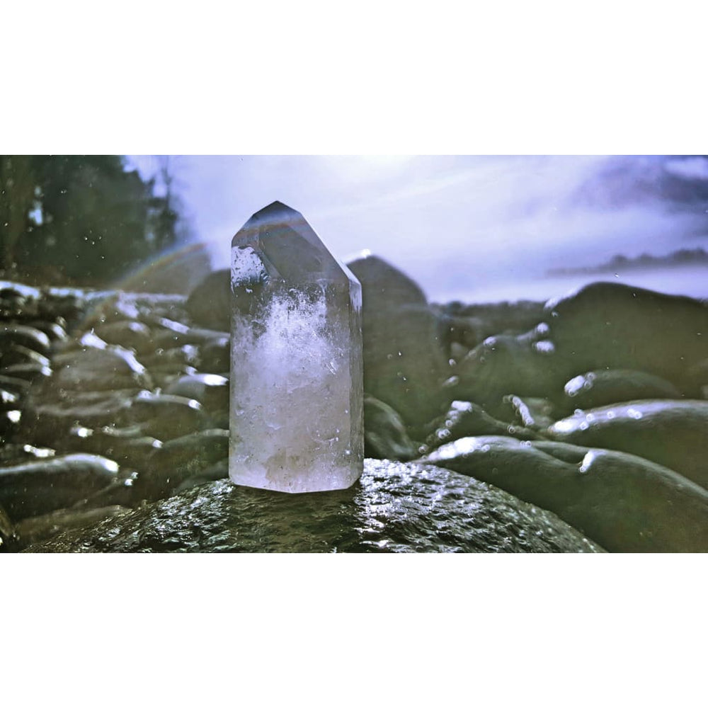 Clear Quartz Generator Towers Self-standing Crystal Point Generate and Project Healing Energy crystal grids - Energy Tools