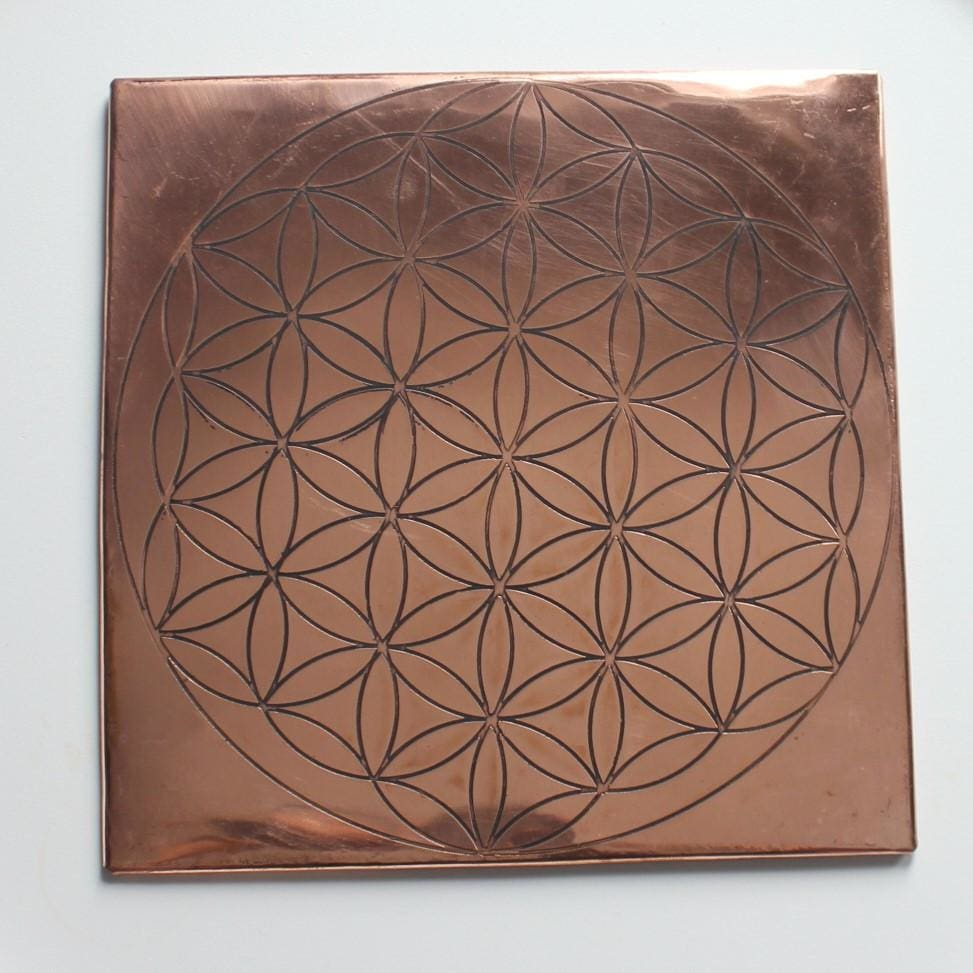 Copper Flower of Life Grid  / / 12 X 12 - Energy Tools