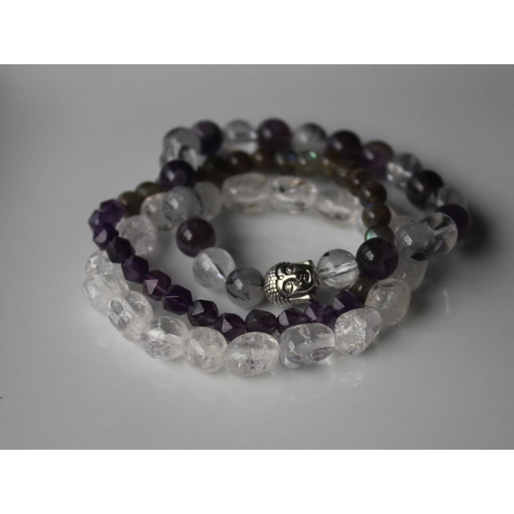 ENLIGHTENMENT SOUL STAR Healing Crystal Bracelet Stack - Bracelets