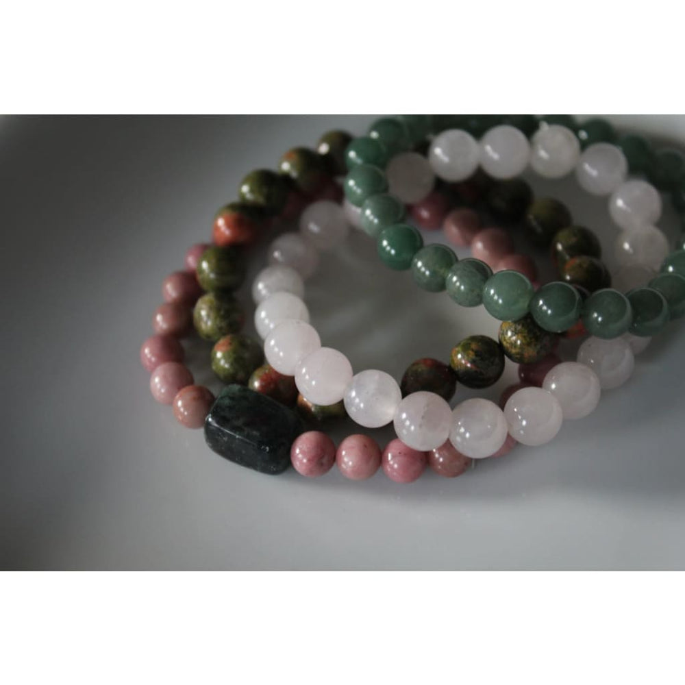 FERTILITY MEGA STACK Healing Crystal Stretch Bracelets / Boost fertility / Improve chances of conception - Bracelets