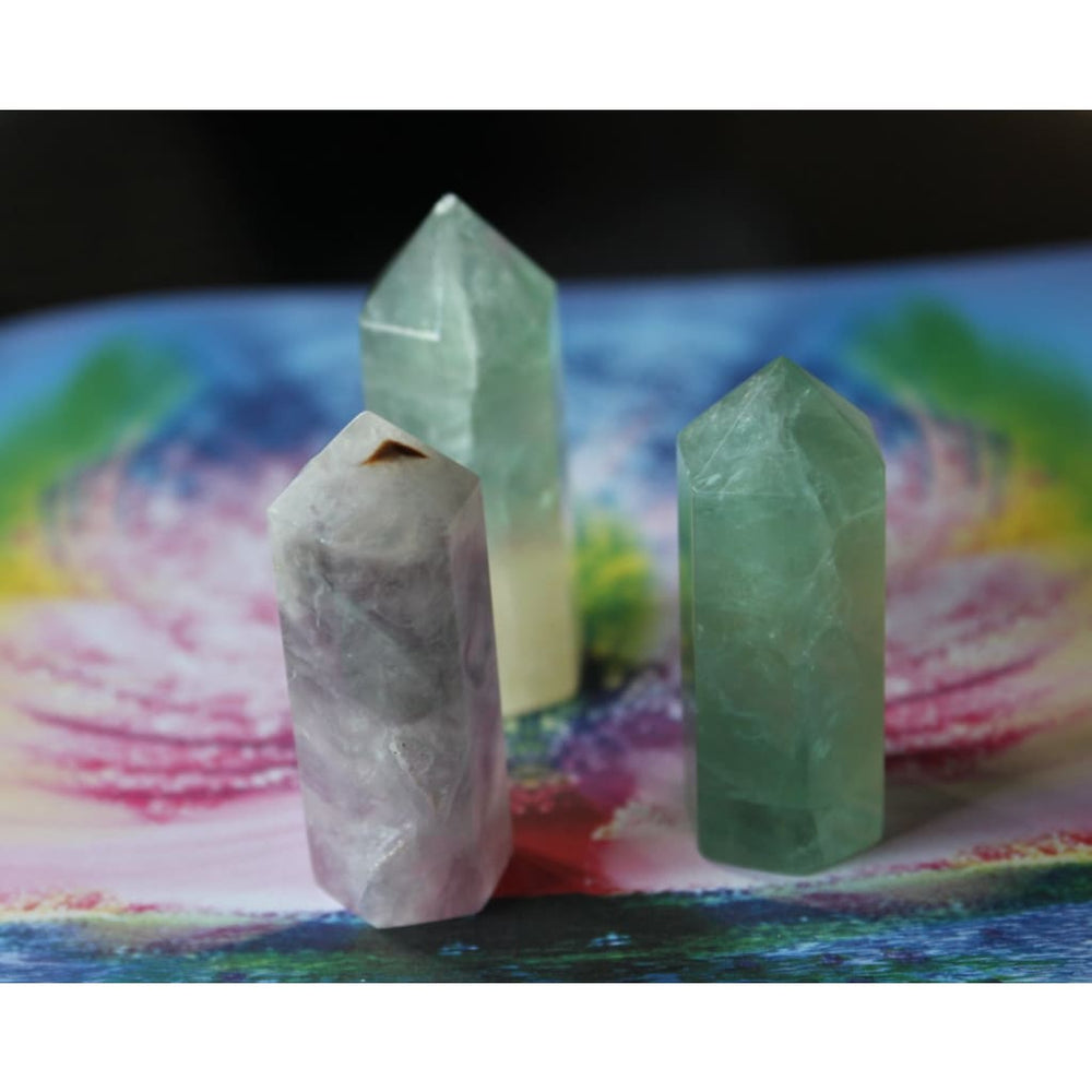 Fluorite Generator Points / All-purpose healer / Stabilize and Cleanse your aura / Boost positivity - Natural Crystals