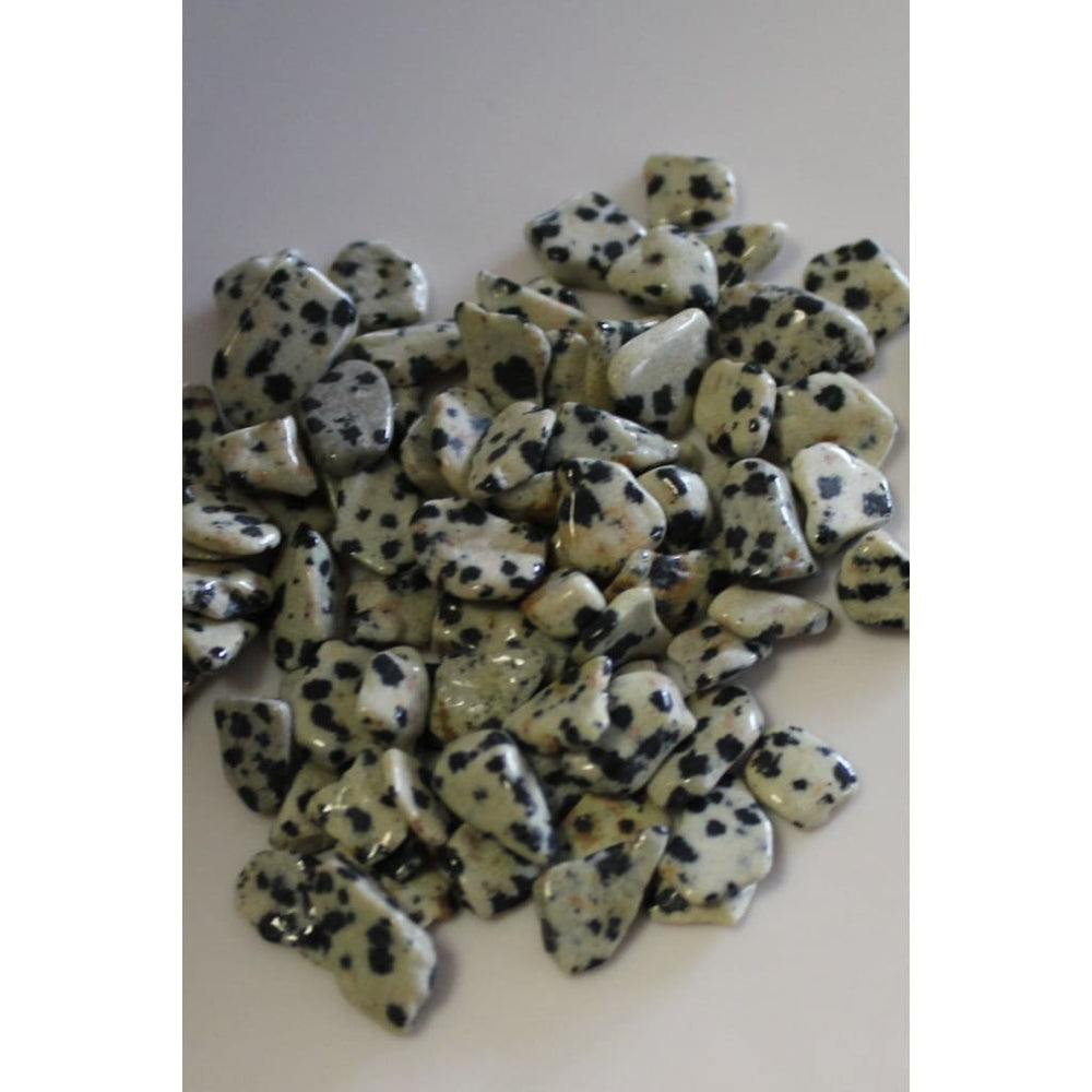 Gemstone Chips DALMATIAN JASPER Mini Healing Crystals / Home Decor / Orgone Supplies - Polished Stones