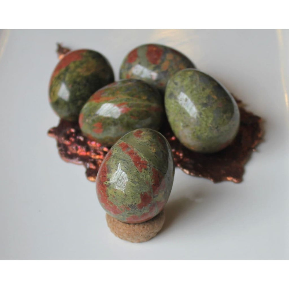 Gemstone Egg Unakite Egg Yoni Egg Spiritual Kegel Exercises Yoga Womens Health Unakite Fertility Minerals - Polished Stones