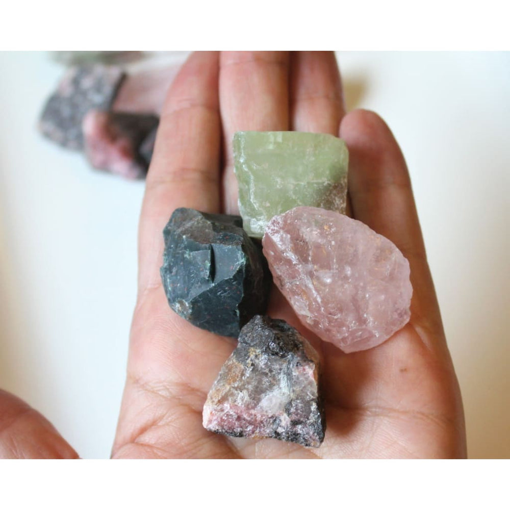 Heart Chakra Stones Raw Crystal Collection Raw Crystal Set Heart Chakra Crystals Chakra Stones - Natural Crystals