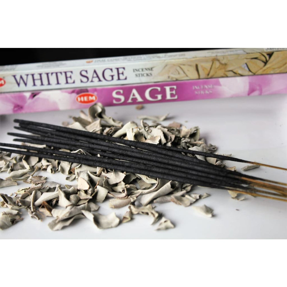 HEM Stick Incense / White Sage / Sage / Money Drawing Incense / Incense Sticks - Energy Tools