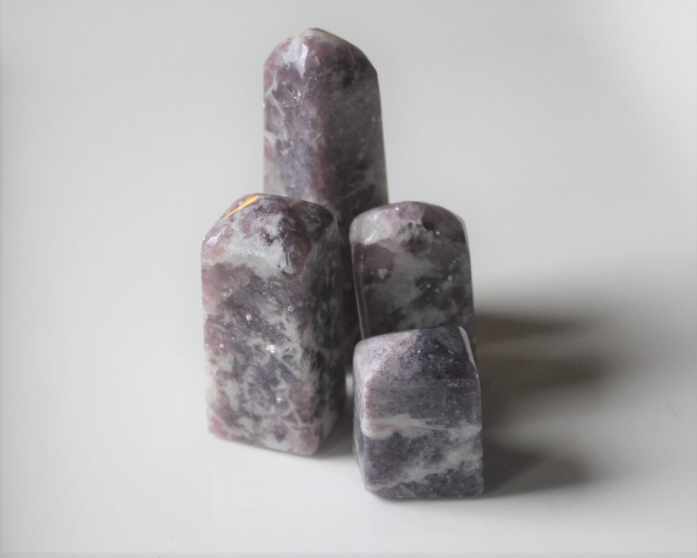 Purple Euphoralite Tower, Hand polished crystal tower