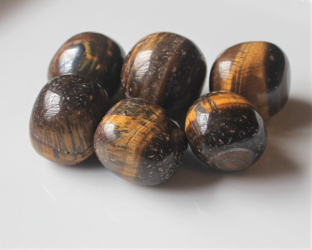 Polished Gold Tiger Eye Stone, Good Luck Crystal, Solar Plexus Stone, Prosperity Crystal