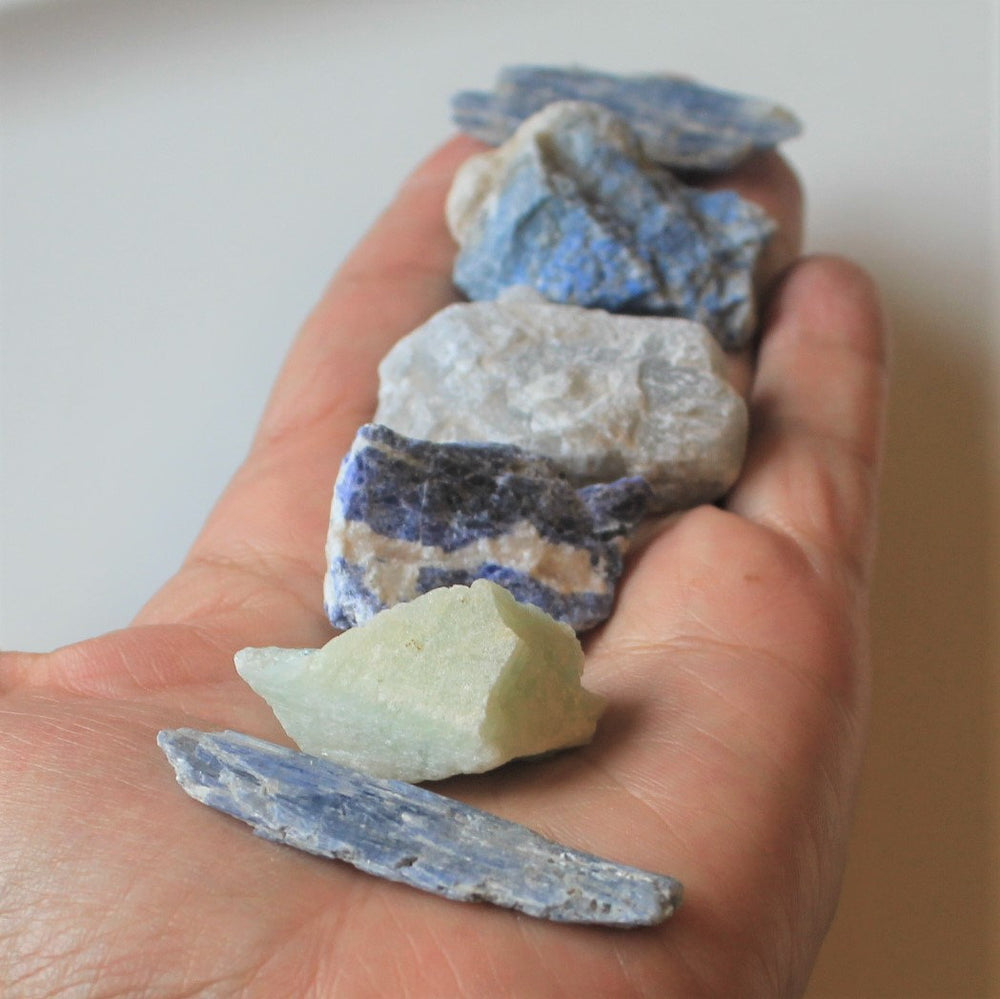 Psychic Gifts Healing Crystals , Rough Stone Set,  Healing Crystals and Stones , Intuition Crystals, Third Eye Crystals