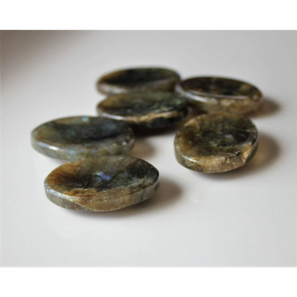 Labradorite Worry Stone Pocket Tranquilizer Crown Chakra Crystal - Energy Tools