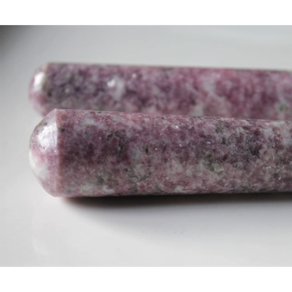 Lepidolite Crystal Wand Anxiety Relief Crystal Stress Relief Stone Meditation Stone 3.25 length
