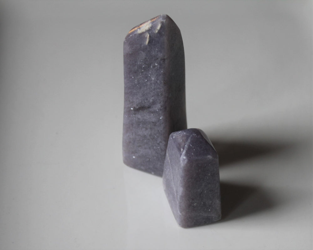 Light Purple Euphoralite Tower, Hand polished crystal tower