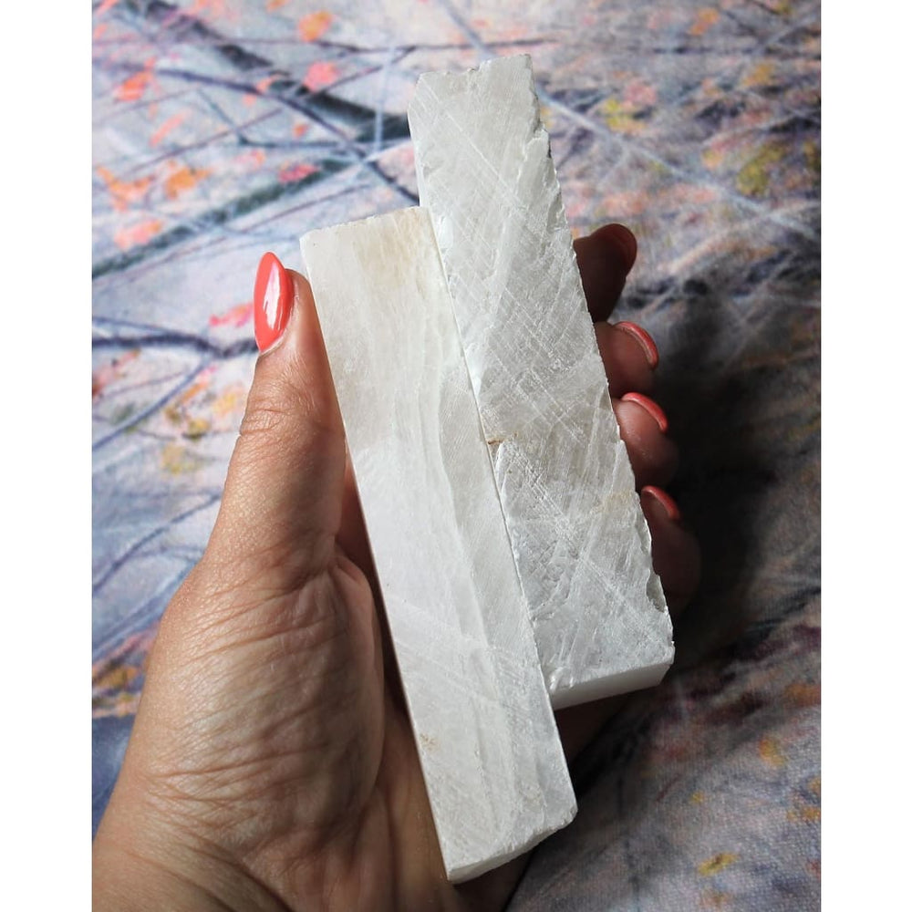 Matte Selenite Selenite Sticks Natural Selenite - Natural Crystals