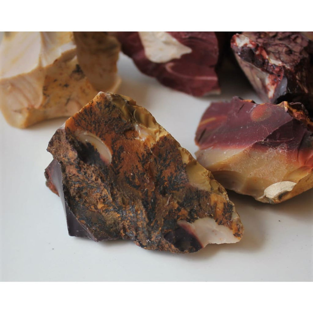 Mookaite Jasper Chunk Raw Jasper Rough Healing Crystals 2 Pieces - Natural Crystals