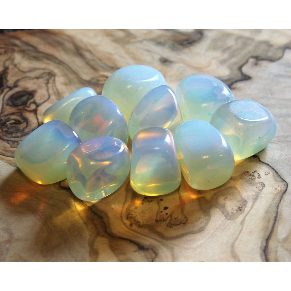 Opalite Tumbles Crown Chakra Crystal Crown Chakra Stone Worry Crystal Fear Crystal Attract Light Beings Angel Stone - Polished Stones