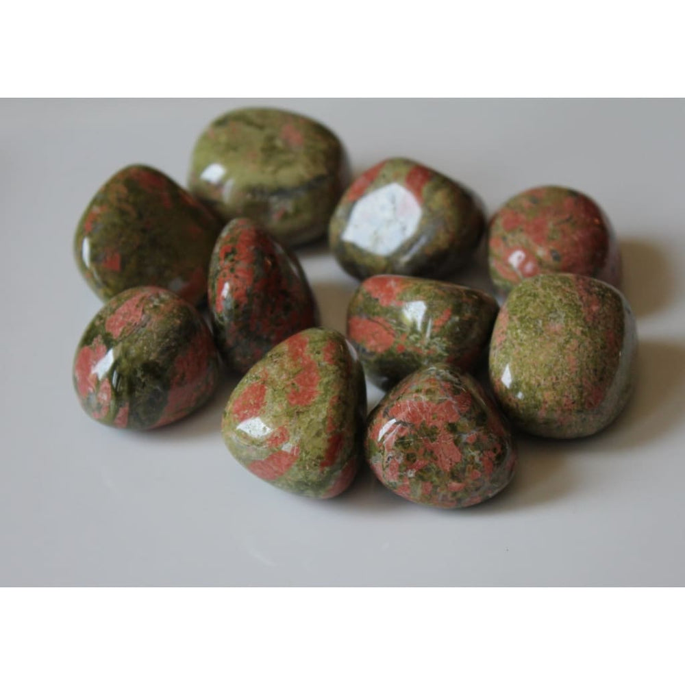 Polished Unakite Healing Crystal / Live in the present / Heart Chakra / Scorpio / Fertility / Healthy Pregnancy - Polished Stones