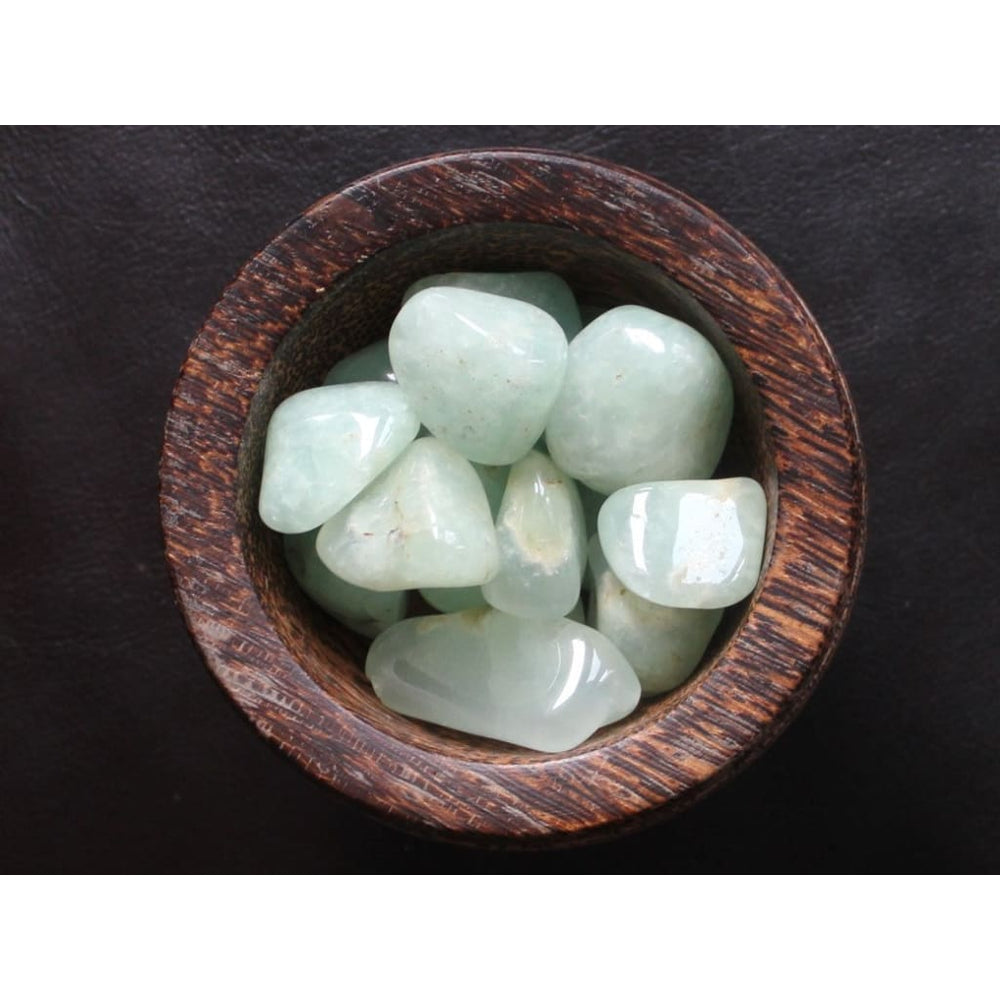 Prehnite Healing Crystal Tumbled Stones Heart Chakra Crystal Dream Recall Heart Chakra Stone Large Size Weight Loss Crystal - Polished