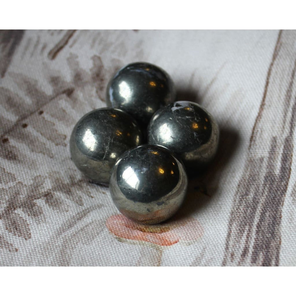 Pyrite Sphere Gemstone Sphere Protection Crystal - Polished Stones
