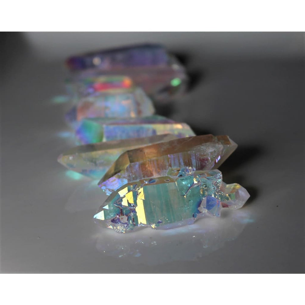 Rainbow Angel Aura Quartz Points / Channel higher knowledge / Meditation - Natural Crystals