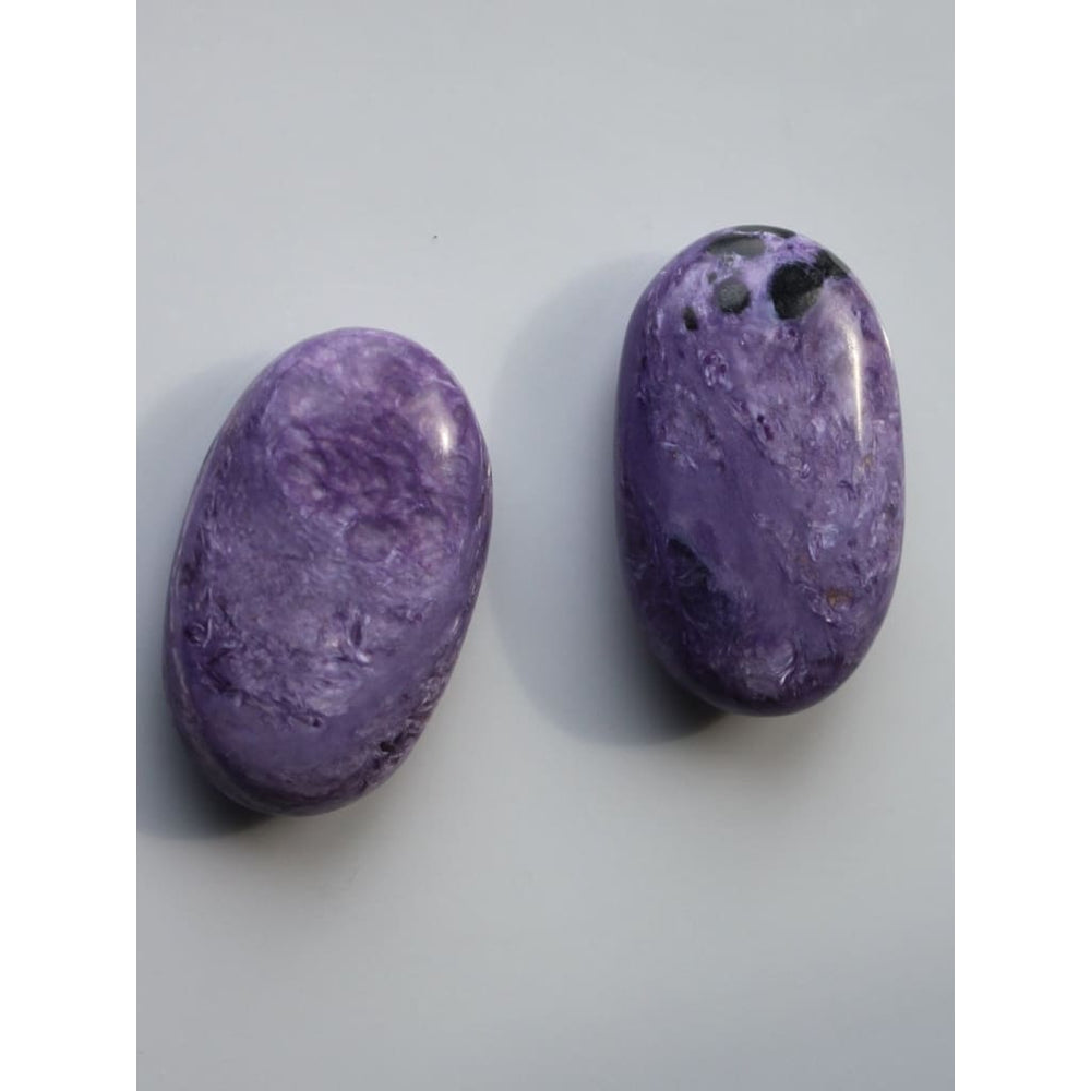 RARE CHAROITE Palm Stone / Crown / Heart Chakra / Scorpio Sagittarius / Autism / ADD / Aspergers / Calming / Overcome negativity