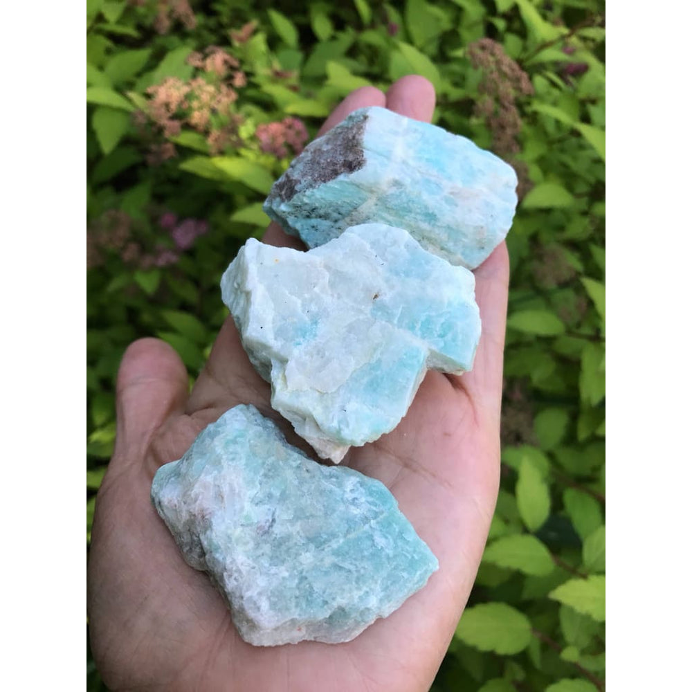 Raw Amazonite Chunk CALMING CRYSTAL Recovery from emotional trauma - Natural Crystals