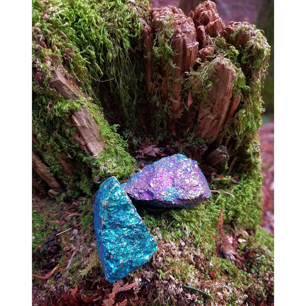Raw Bornite Peacock Ore Joy crystal Happiness Stone Positivity - Natural Crystals