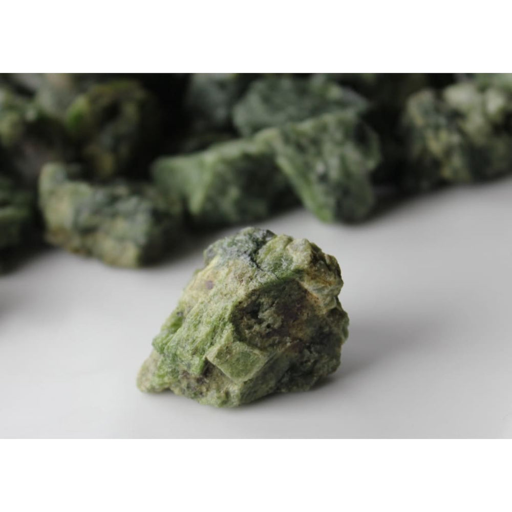 Raw Diopside Chunk / Heal after Surgery or Trauma / Heart Third Eye Sacral Chakras / Gemini Virgo - Natural Crystals