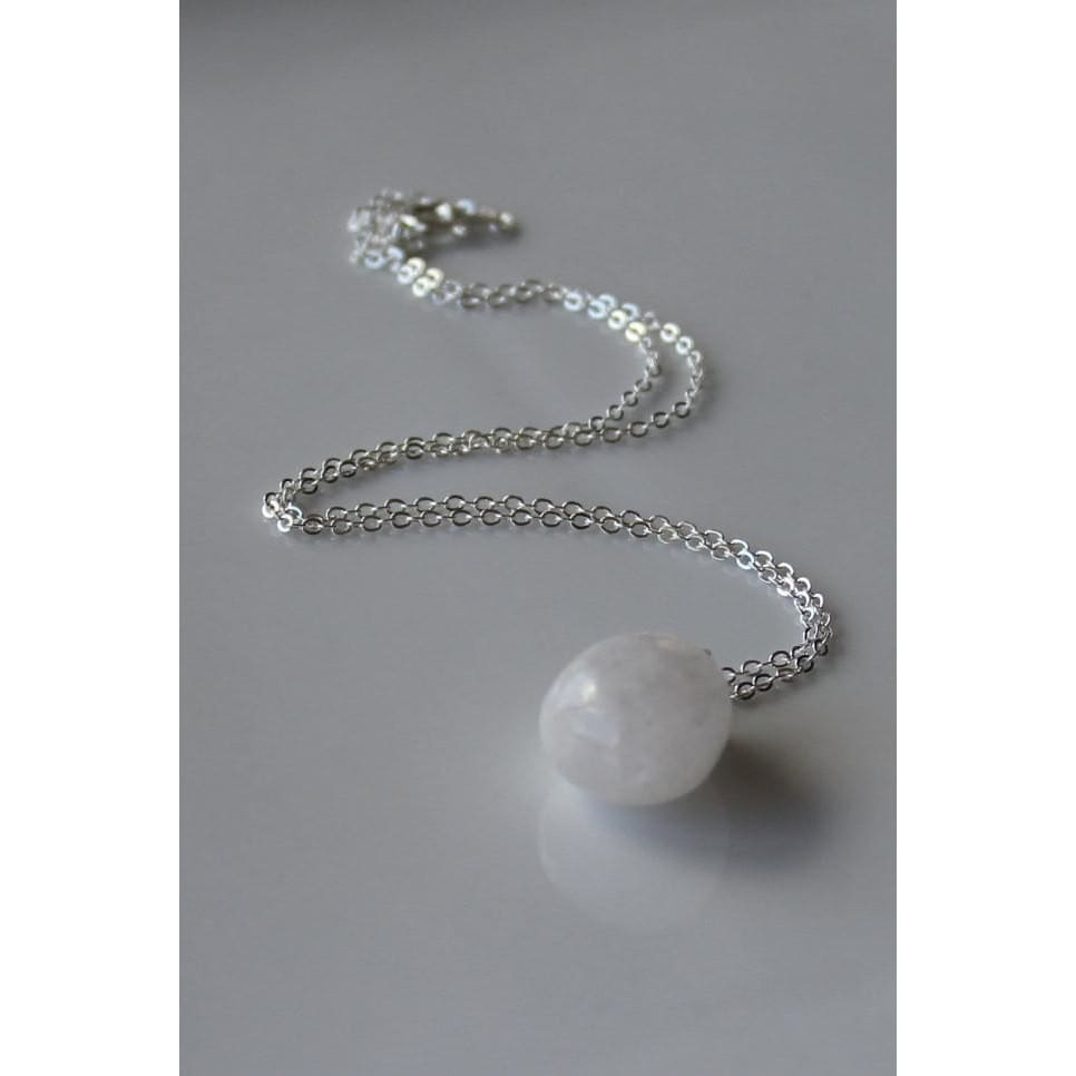 Reserved / Snow Quartz Necklace - Necklaces