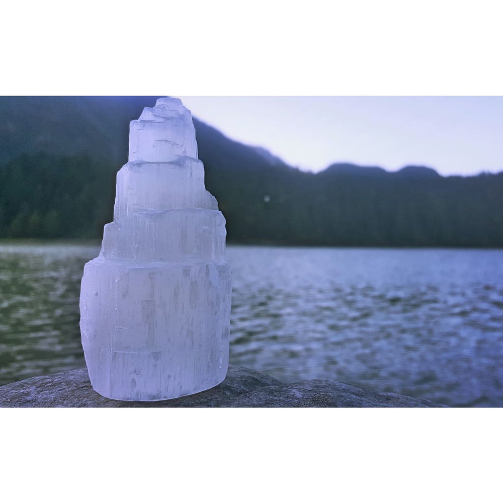 Selenite Iceberg Tower / Neutralize negative energies / High frequency healing energy - Natural Crystals