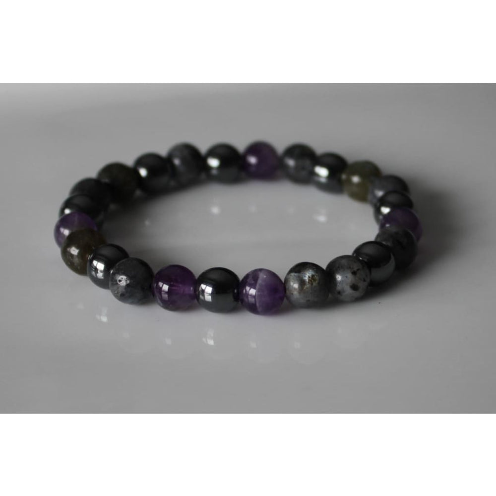 STRESS RELIEF BRACELET / Healing Crystal Therapy / Dispel negative energy / Serenity Peace Balance