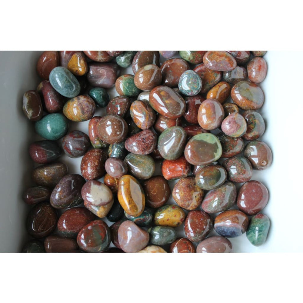 Tumbled Fancy Jasper LOT OF 10 / Protection / Well-being / Strength and Confidence / Alleviate Insomnia / Libra Virgo - Polished Stones