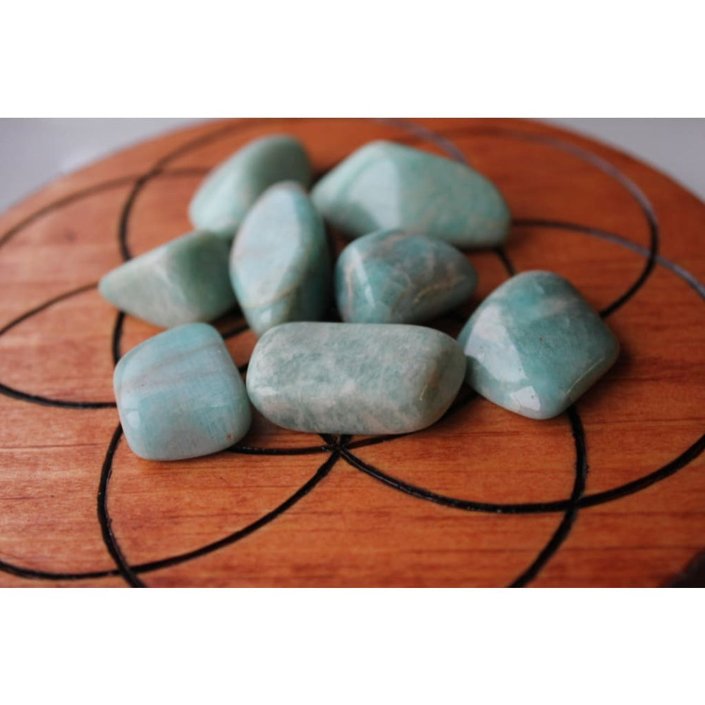 Tumbled Polished Amazonite Healing Stones / Alleviates fear and worry / Communication / Stress Relief / Truth - Polished Stones