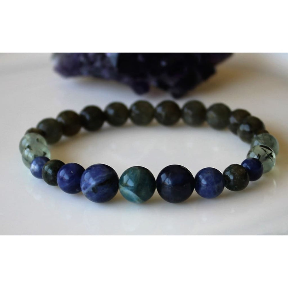 WEIGHT LOSS Apatite Healing Crystal Bracelet / Boost Metabolism / Reduce Appetite / Support with Food Addictions - Bracelets