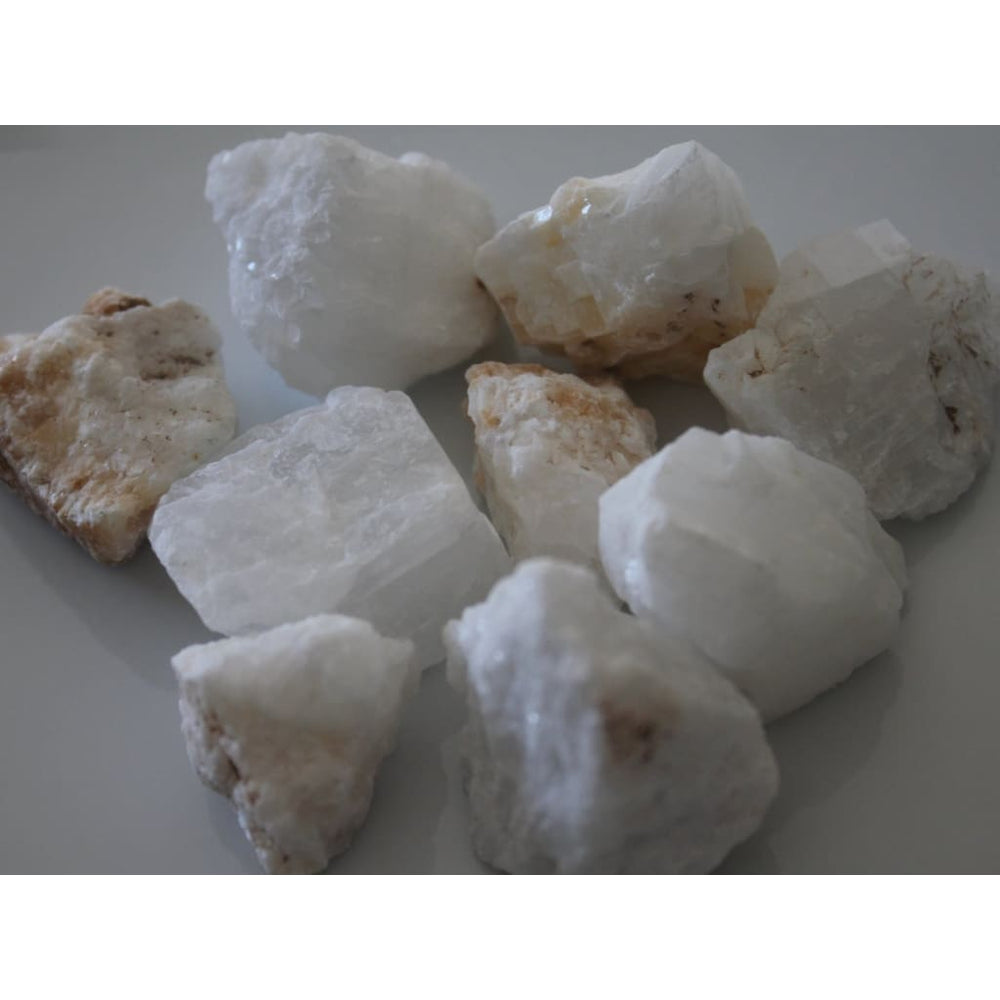 White Calcite Chunk / Raises Consciousness / Motivation / Cleanse negative energy / Activate Crown Chakra - Natural Crystals