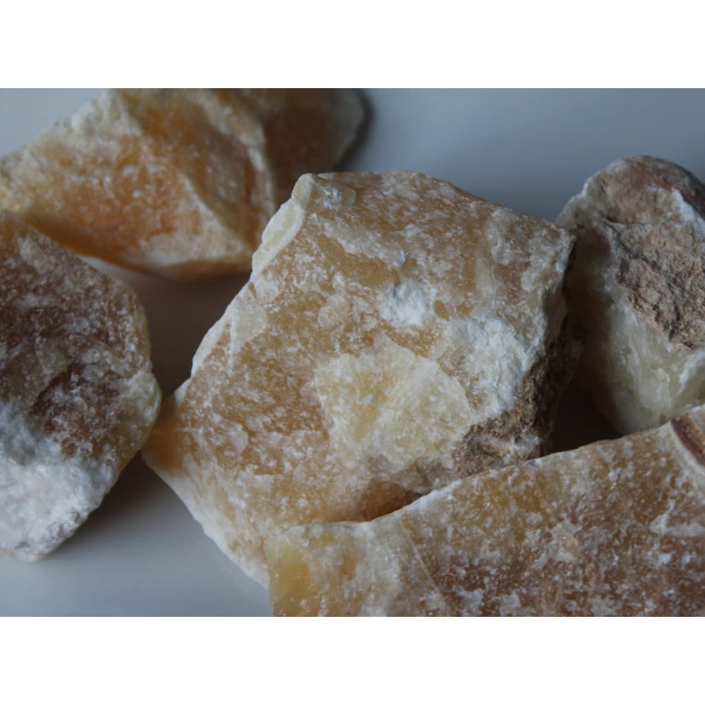Yellow Calcite Chunk / Boost energy / Improve confidence / Calm anxiety / Improve health / Attract prosperity - Natural Crystals