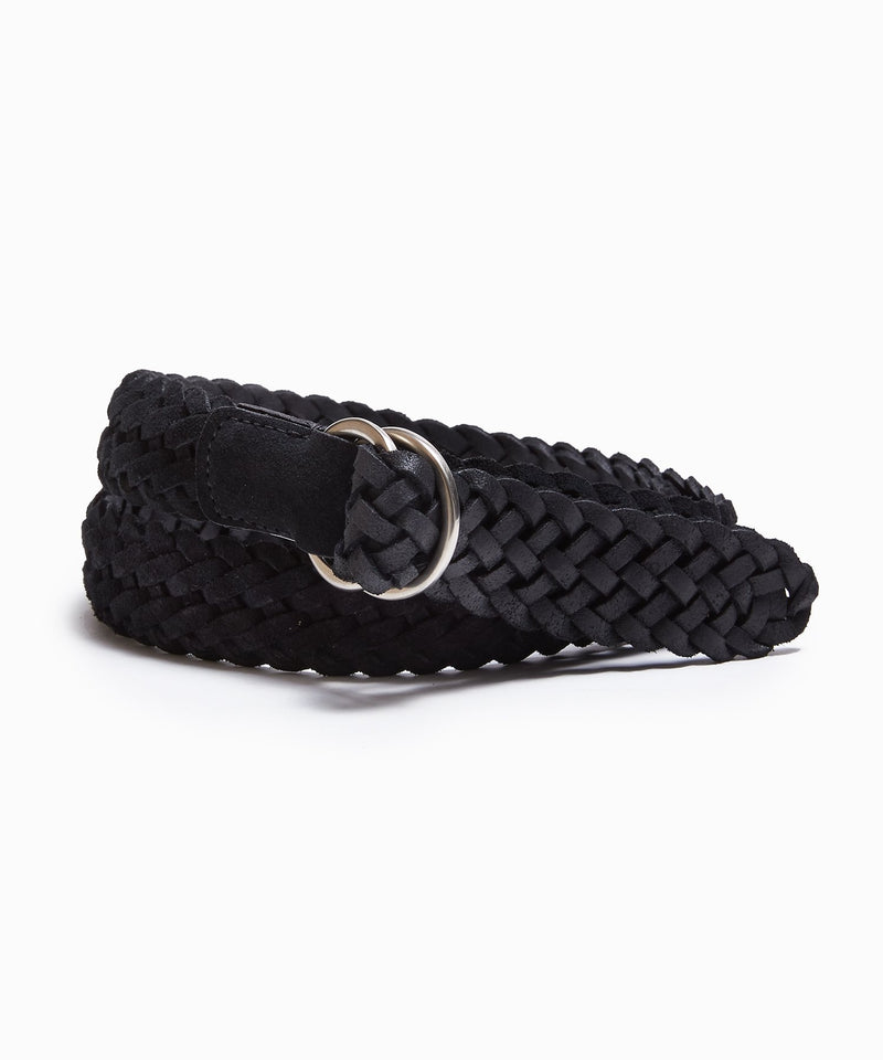 Anderson's Suede Braided D-Ring Belt in Black