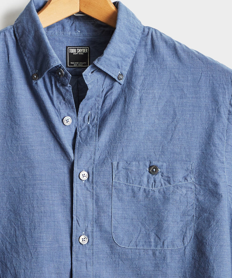Lightweight Button Down Shirt in Navy
