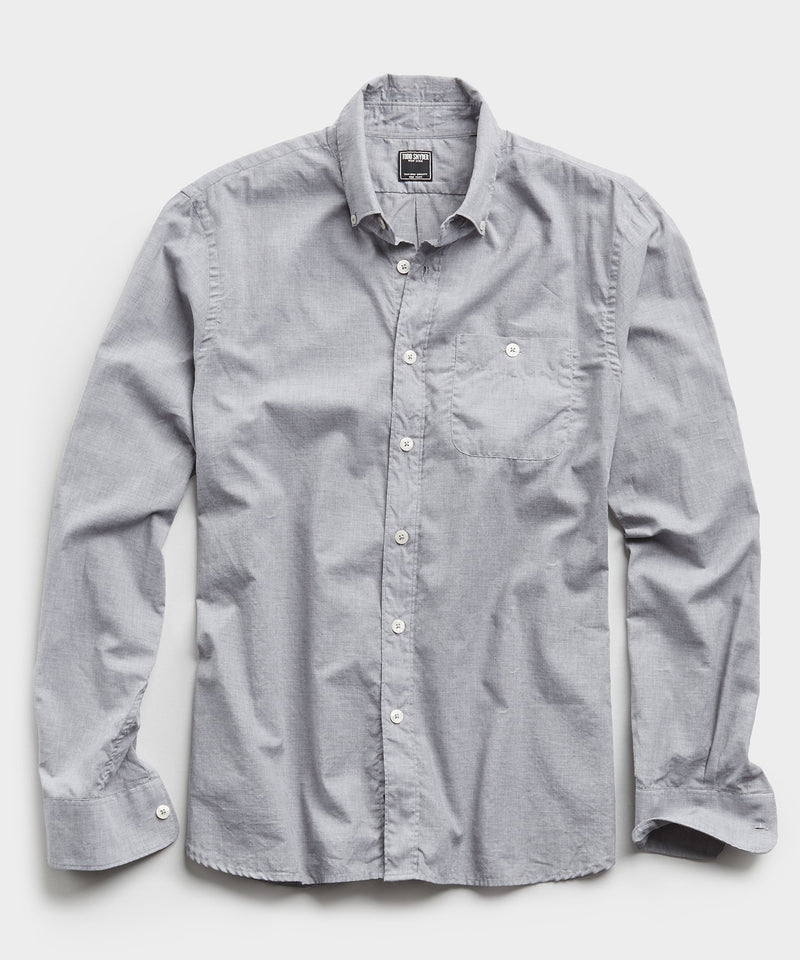 Lightweight Button Down Shirt in Grey