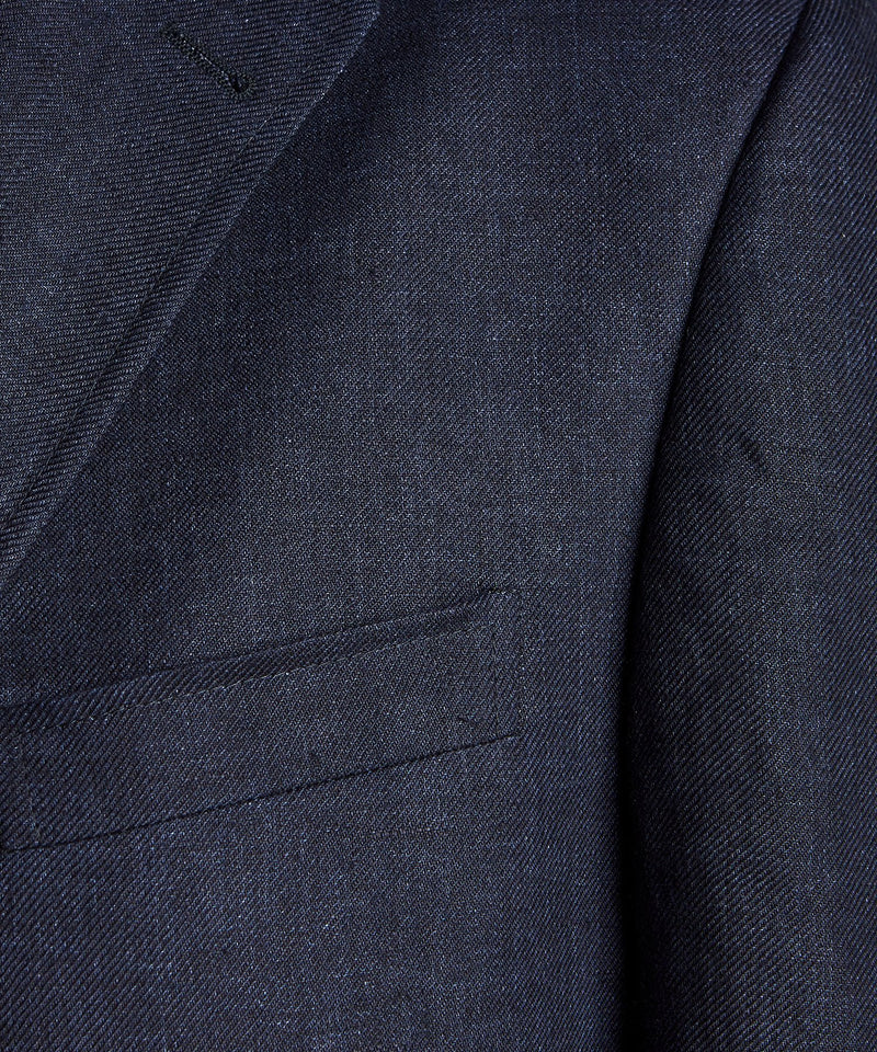 Linen Sack Suit in Indigo