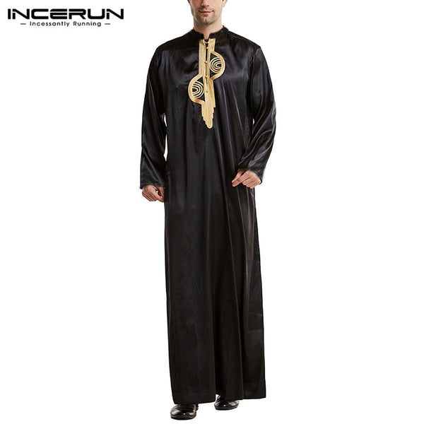 Men Loose Patchwork  Kaftan