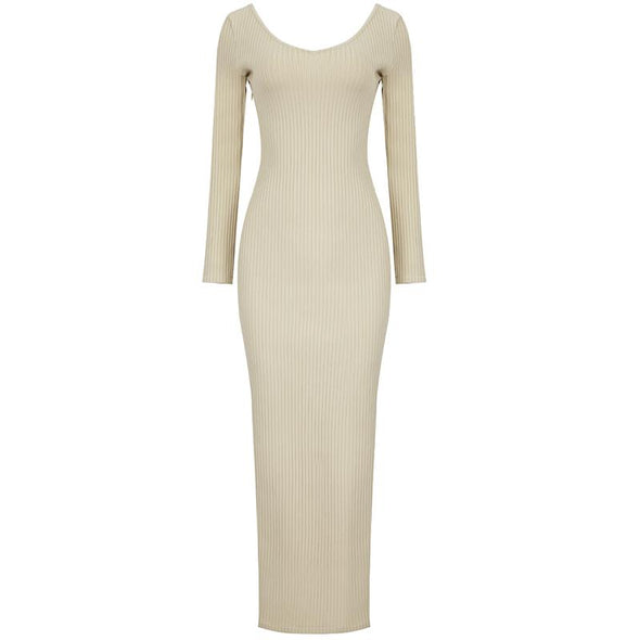 Dasha Beige Maxi Dress