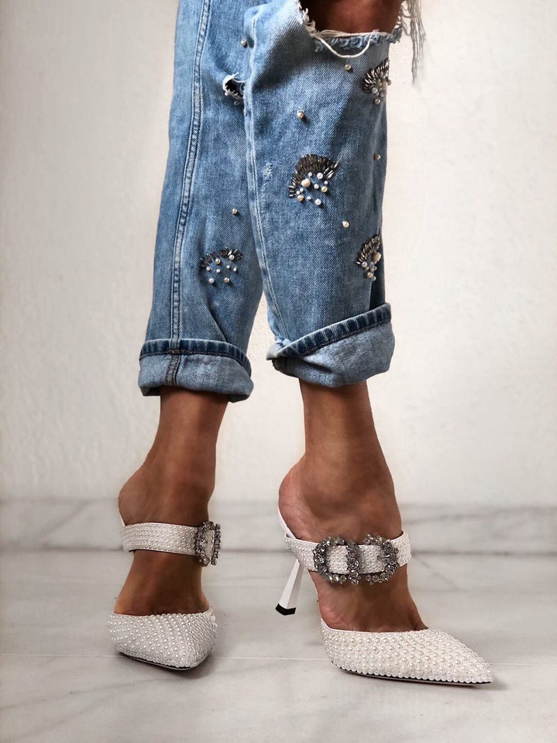 Cindy Pearl Mules