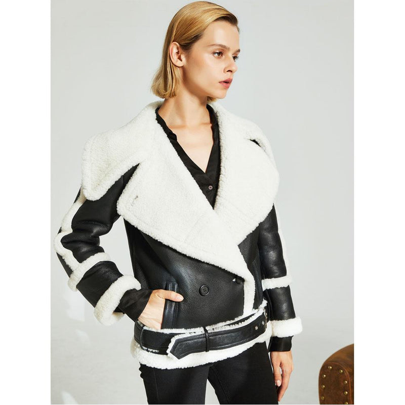 Salma Leather/Sheep Skin Jacket