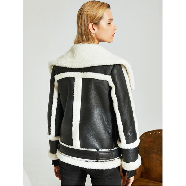 Salma Leather & Sheepskin Jacket