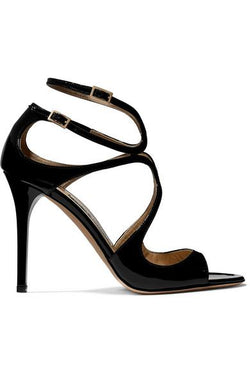 Mac Black Patent Leather Sandals