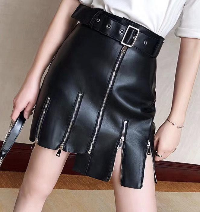 Jelena Leather Skirt