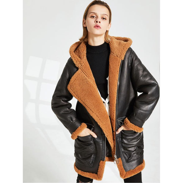 Valma Leather & Sheepskin Jacket