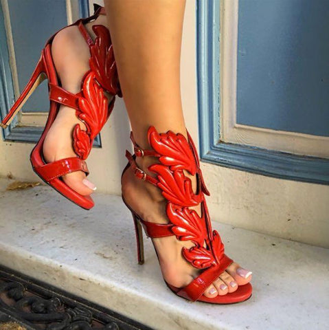 Lelani Red Patent Leather Sandals