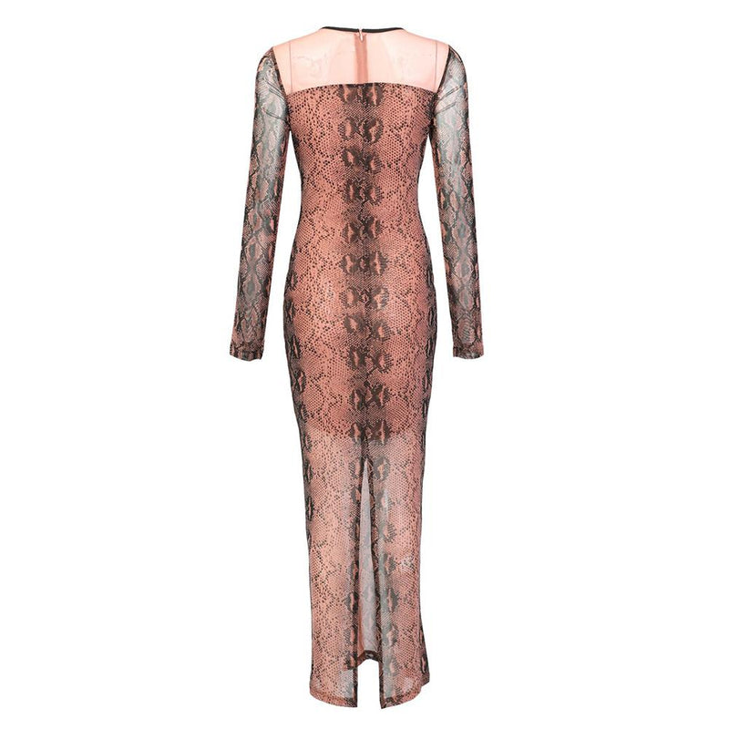 Luca Snake Print Print Maxi Dress (Limited Stock)