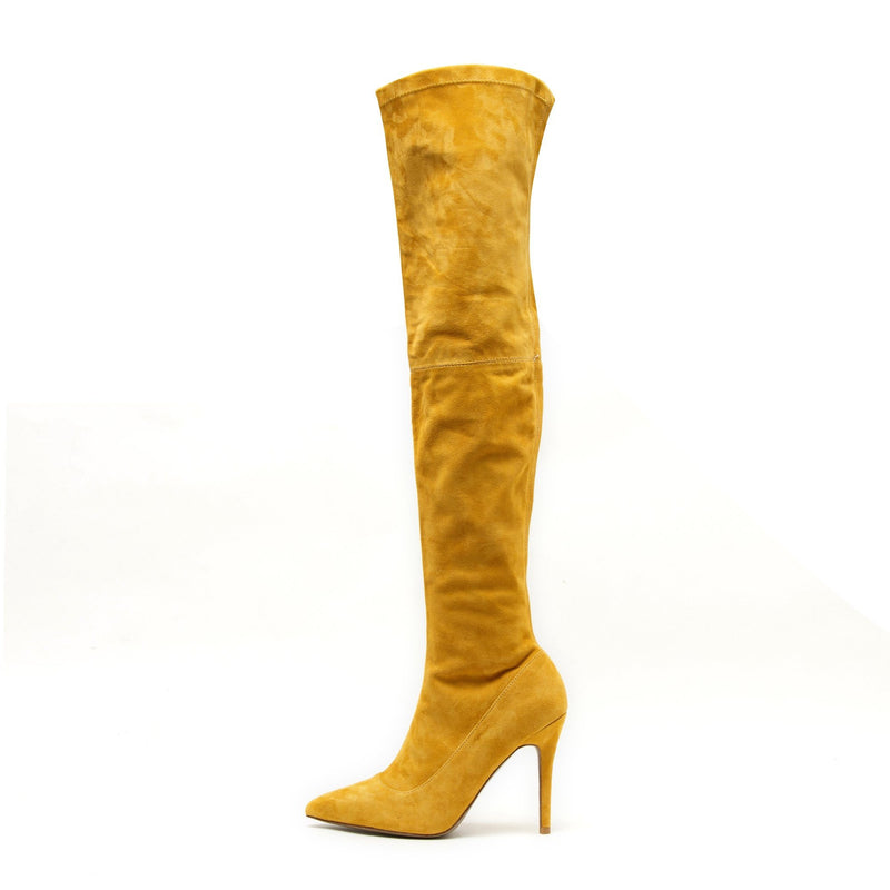 Gianna Yellow Suede Boots