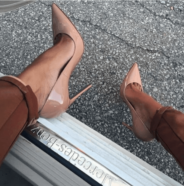 Leah Nude Patent Leather Pumps